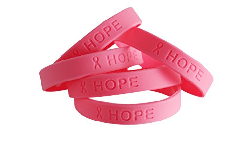 Official Breast Cancer Awareness Silicone Bracelets (10 (Cancer Awareness Jewelry Bracelet)