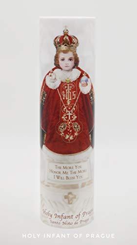 - Holy Infant of Prague - LED Devotional Prayer Candle with 6 Hour Timer - Catholic Gift