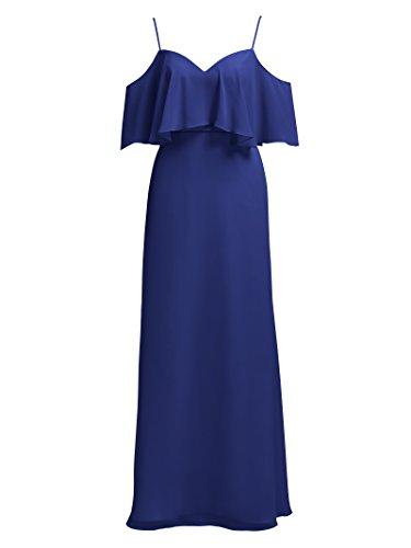 Blue Dresses Bridesmaid Royal Sleeve Alicepub Evening Cocktail Ruffle Chiffon Homecoming Party Long 4gnqxwTUP