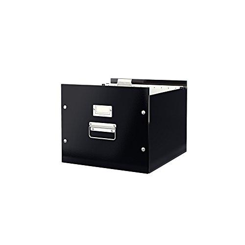 Leitz 60460095 Archiv-Hängebox Click und Store, Graukarton, schwarz