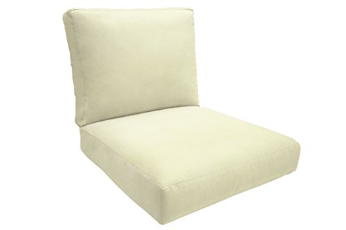 Eddie Bauer Home Deep Seating Lounge Knife Edge, Medium, Canvas Natural - Edge Lounge