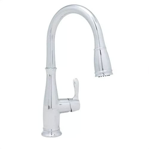 Mirabelle MIRXCCD100 Cordelia Pullout Spray Kitchen Faucet, Polished Chrome by Mirabelle