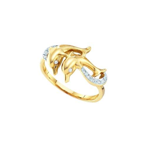1/20 Total Carat Weight DIAMOND LADIES DOLPHIN RING by Jawa Fashion