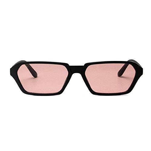 soleil multicolore Rouge Réfléchissantes lentille le homme UV400 XWB Soleil été Noir de Fashion Petites carrées Modernes et Lunettes contre Lunettes Polarisées qBpqxwT