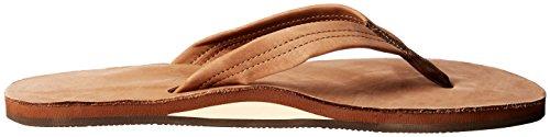 Sandalo Rainbow In Pelle Monostrato - Uomo Marrone Scuro
