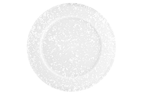 Dexas Jelli Plastic Serving Plate/Charger, 14 Inch Diameter, Granite Pattern ()