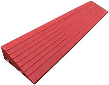 滑り止めランプ、プラスチック製の赤い屋内敷居ランプ、家庭用滑り止め車椅子用ランプサイズ:40 * 8 * 3CM実用的(サイズ:40 * 8 * 3CM)