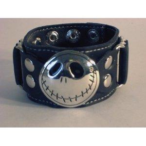Jack Skellington Nightmare Before Christmas Wristband Bracelet Halloween Gothic Emo Rocker Punk