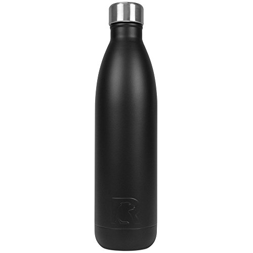 RTIC 127 Double Wall Vacuum Insulated Water Bottle, 25 oz, Black