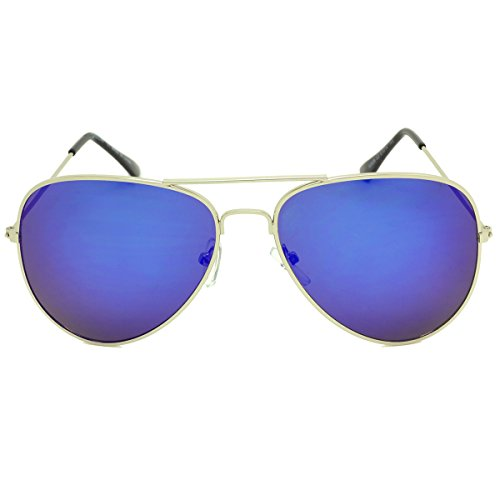 MKY Women Men Classic Aviator Mirrored Polarized Sunglasses Double Bridge - Between Sunglasses Non Polarized Difference And Polarized
