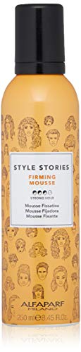 (Alfaparf Milano Style Stories Firming Mousse Styling Product - Strong Hold - Long-Lasting - All Day Hold - Professional Salon Quality - 8.45 fl. oz.)