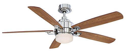 Fanimation Benito - 52 inch - Polished Nickel with Reversible Cherry/Walnut Blades with Light Kit and Remote - FP8003PN