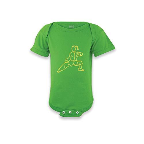 Cute Rascals Martial Arts Short Sleeve Envelope Neck Boys-Girls Cotton Baby Bodysuit One Piece - Apple Green, Newborn (Best Martial Arts For Girls)