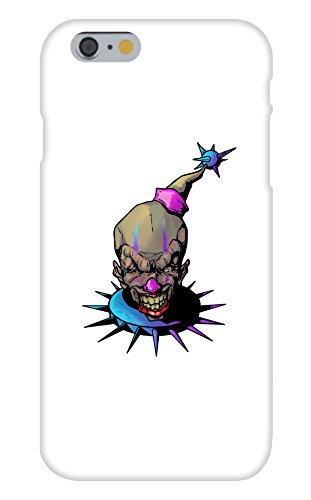 Apple iPhone 6+ (Plus) Custom Case White Plastic Snap On - Purple and Blue Fun, Frightening, and Evil Clown -
