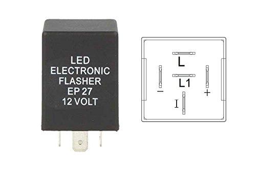 Schema Elettrico Frecce Auto : Flasher led lampeggiatore rele relay 5 pin ep27 12v per frecce led