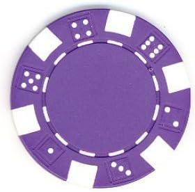 50パック–11.5GramパープルDiceデザインPoker Chips