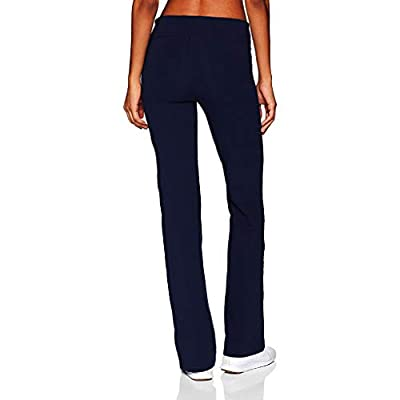 Hosamtel Yoga Pants for Women Casual Solid Color Slim Hips Loose Wide Leg Sports Pants High Waist Tummy Control Pants: Clothing