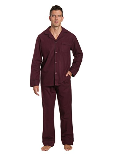 Flannel Pajamas For Men - Men's Flannel Pajama Set - Fig - Medium