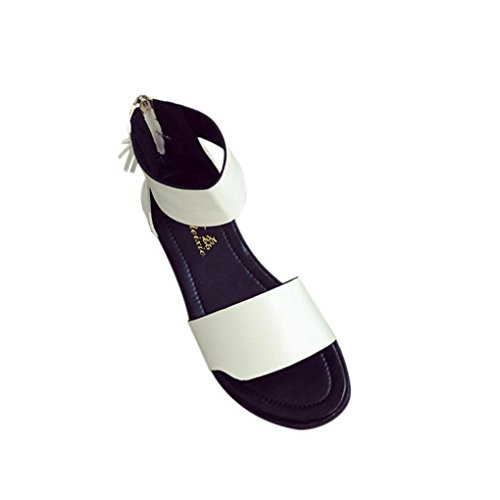 Jamicy Summer Sandals Women Fashion Flat Comfortable Sandals Shoes White