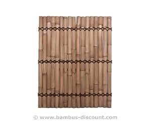 "'bambú Valla ""apas amarillento, rígidos de verschnurr, druch. 6a 8cm, 180x 90cm"