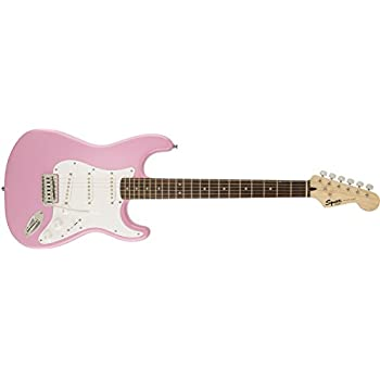 squier by fender mini strat beginner electric guitar rosewood fingerboard pink. Black Bedroom Furniture Sets. Home Design Ideas