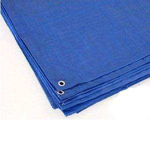 Blue Reinforced Rip-Stop Polyethylene Tarp, 8