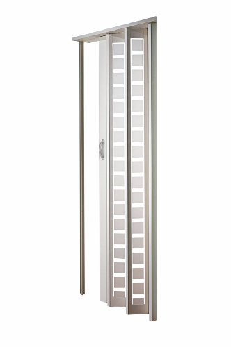 Spectrum HSMETRO3280WHSQ Metro 32'' x 80'' Frosted Square Plexiglas Door, White by LTL Home Products