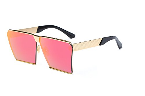 Square Sunglasses for Men Women Retro Unisex Hot Girl Boy Classic Lady Sunglass (Pink, - Sunglasses Arnett