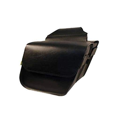 Dowco Willie & Max 58801-00 Raptor Series: Synthetic Leather Compact Slant Motorcycle Saddlebag Set, Black, Universal Fit, 20 Liter Capacity (Designs Shoei Lee Troy)