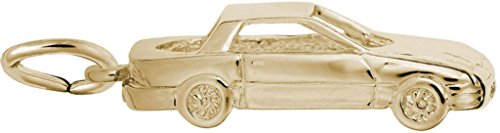 Rembrandt Mid-Engine Sports Car Charm - Metal - Gold-Plated Sterling Silver