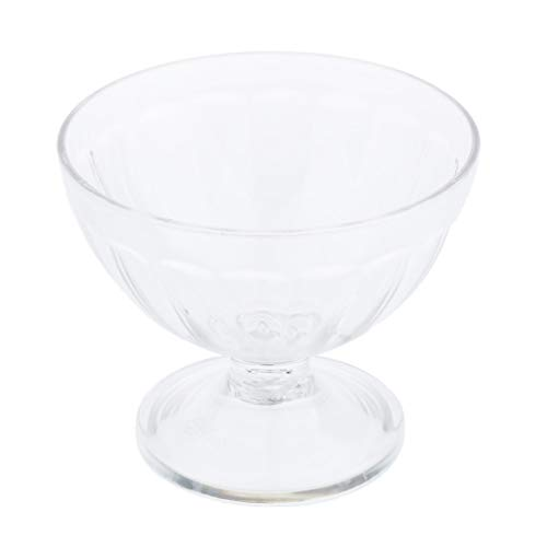SM SunniMix Reusable Clear Acrylic Ice Cream Cup Footed Dessert Bowl Container for Party Bar