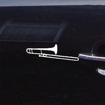 Amazon.com: Trombón Color Blanco calcomanía de coche ventana ...