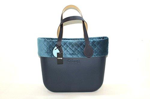 O BAG , Damen Schultertasche Blau blau