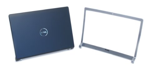 Genuine Dell T924F P613X M138C LCD Cover Top Lid Bezel Kit Assembly with Hinges in Matte Black and Silver. For Dell Studio 1535, 1536, and 1537 Notebook Laptop Systems, Fits Laptop Notebooks With 15.4