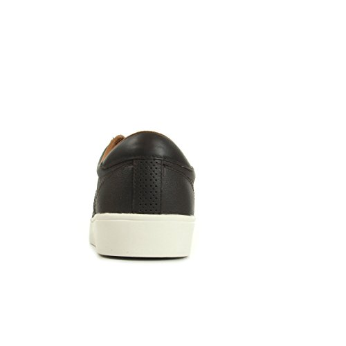 Fred Perry Spencer Tumbled Leather Dark Chocolate B1134325, Scarpe sportive