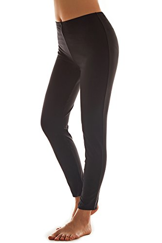 Cokar UV Sun Protective Swim Legging for Women, Classic-black, Large