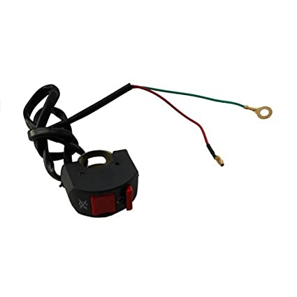 amazon com 2 wires kill switch for chinese 90cc 110cc 125cc atv rh amazon com Battery Kill Switch Wiring Diagram Race Car Kill Switch Wiring
