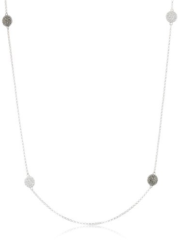 Judith Jack Classics Sterling Silver, Marcasite, and Cubic Zirconia Station Necklace, (Judith Jack Silver Necklace)