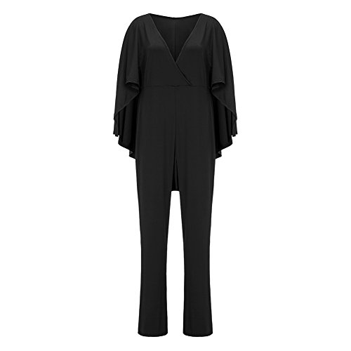 Women's Plus Size Jumpsuit with Attached Flowing Cape in Black by M.Brock (Image #2)