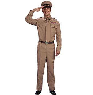 Men's WW2 Army General Costume