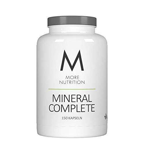 MORE NUTRITION Mineral Complete (1 x 150 Kapseln) Vegan Mineralien Vitamin B12, Vitamin A, Folsäure, Calcium, Magnesium, Eisen, Zink, Selen