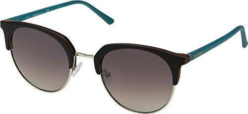 GUESS Gu3026 Wayfarer Sunglasses, dark havana & gradient brown, 52 ()