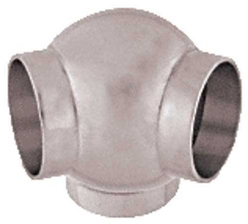 Ball 135 Degree Elbow - C.R. LAURENCE HR15BPBS CRL Brushed Stainless 2-5/8