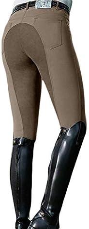 Romose Women Breeches Equine Horse Riding Elastic Leggings Jodhpur Trousers Tights Equestrian Sports Pants for