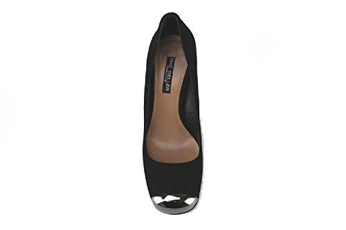 THE SELLER Zapatos de salón mujer negro gamuza (38,5 EU, negro)