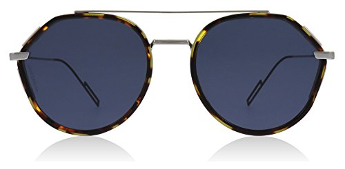 Dior Homme 0219S 3MA Havana 0219S Round Sunglasses Lens Category 3 Size ()