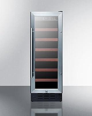 Summit SWC1224 Wine Chiller Beverage Refrigerator, Glass/Black
