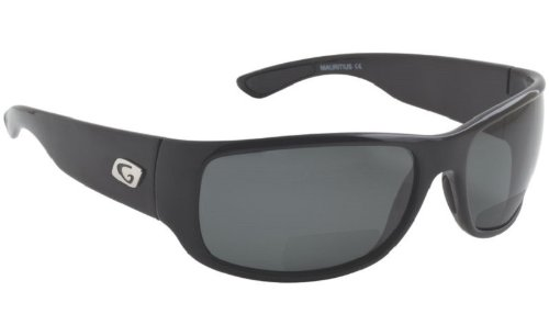 Guideline Eyegear Wake Bifocal Sunglasses with Deepwater Gray Polarized Lens, Shiny Black - Sunglasses Guideline Polarized