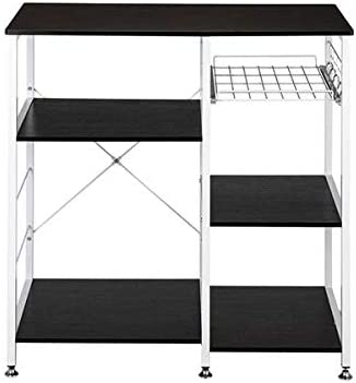 """BOERLKY Practical 35.5"""" Kitchen Baker's Rack Utility Storage Shelf Microwave Stand 3-Tier 3-Tier Table for Spice Rack Organizer Workstation Dark Brown Anchor Recommendation"""