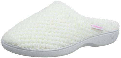 Pantoufles White Isotoner Blanc Femme Whi Popcorn Ladies Slippers Mule wHCIFqZ